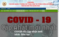 Quảng Nam vận hành phần mềm theo dõi, quản lý về dịch Covid-19