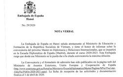 Tuyển sinh đào tạo Thạc sĩ Ngoại giao và Quan hệ quốc tế tại Trường Ngoại giao Madrid