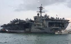 Hình ảnh chiến đấu cơ trên tàu sân bay USS Theodore Roosevelt ở vịnh Đà Nẵng