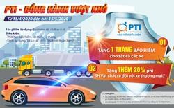 PTI tặng 1 tháng phí bảo hiểm cho khách hàng tham gia bảo hiểm vật chất xe ô tô