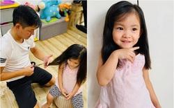Sao Việt trổ tài tự cắt tóc cho con giữa mùa dịch Covid-19
