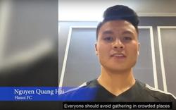 Quang Hải được AFC lựa chọn gửi lời kêu gọi phòng, chống dịch Covid-19