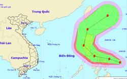 Bão Vongfong giật cấp 11 đang tiến vào Biển Đông