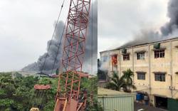 Cháy lớn tại xưởng sản xuất may mặc khu công nghiệp Phú Thị