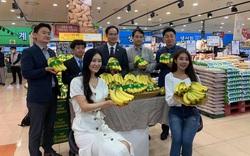 Lần đầu tiên trái chuối Việt được bán ở siêu thị Hàn Quốc