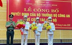 Công an Quảng Bình công bố các quyết định của Bộ trưởng Bộ Công an về công tác cán bộ