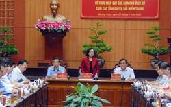 Trưởng ban Dân vận Trung ương Trương Thị Mai làm việc tại Quảng Nam