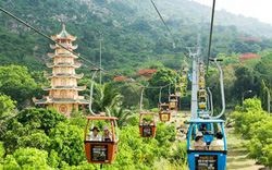 Tạm dừng hệ thống cáp treo cũ tại Núi Bà Tây Ninh và xe ống trượt