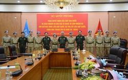 Công bố quyết định của Chủ tịch nước cử sĩ quan đi làm nhiệm vụ gìn giữ hòa bình Liên Hợp Quốc