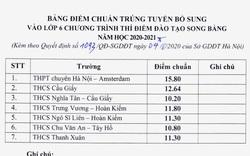 Hà Nội: Hạ điểm chuẩn trúng tuyển lớp 6 song bằng năm học 2020-2021