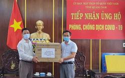Quảng Nam tiếp nhận thêm 1,2 tỷ đồng cùng vật tư y tế ủng hộ phòng, chống dịch Covid-19