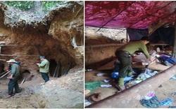 Phát hiện 3 hầm vàng mới chuẩn bị khai thác trái phép tại rừng Hòa Bắc