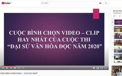 Bình chọn video-clip hay nhất của Cuộc thi Đại sứ Văn hóa đọc năm 2020