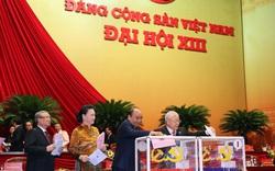 Hình ảnh bầu Ban Chấp hành Trung ương Đảng khóa XIII