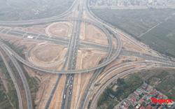 Toàn cảnh nút giao Cổ Linh với cao tốc Hà Nội - Hải Phòng trước ngày thông xe