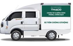 THACO trao tặng Thành phố Hà Nội 300.000 kit test nhanh kháng nguyên SARS-CoV-2 và 30 xe cứu thương.