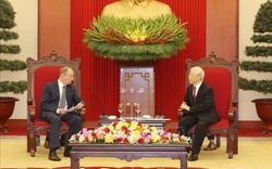Tổng Bí thư, Chủ tịch nước Nguyễn Phú Trọng tiếp Thư ký Hội đồng An ninh Liên bang Nga