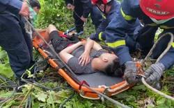Cứu nam thanh niên rơi xuống vực sâu trên đèo Hải Vân