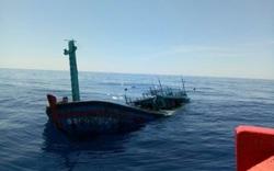Tàu cá ngư dân bị tàu hàng đâm chìm trên biển