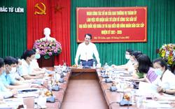 Chủ nhiệm Ủy ban Kiểm tra Thành ủy Hoàng Trọng Quyết kiểm tra công tác bầu cử tại Quận Bắc Từ Liêm