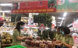 Kết nối tiêu thụ vải thiều Bắc Giang trong siêu thị Mega Market Thăng Long, Hà Nội