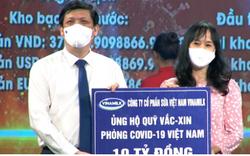 Vinamilk tiếp tục đồng hành với Chính phủ, ủng hộ 10 tỷ đồng vào Quỹ vaccine