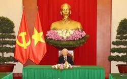 Tổng Bí thư Nguyễn Phú Trọng điện đàm với Tổng thống Hàn Quốc