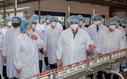 """Thủ tướng đánh giá cao mô hình """"vừa sản xuất, vừa chiến đấu"""" khi thăm siêu nhà máy sữa của Vinamilk"""