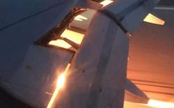 """Video: """"Sốc"""" máy bay đội tuyển Saudi Arabia bốc cháy trên không"""
