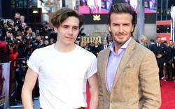 """Hai bố con Beckham """"đọ nhan sắc"""" trên thảm đỏ"""