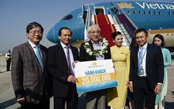 Vietnam Airlines đón hành khách thứ 20 triệu trong năm nay