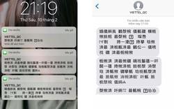 Những ký tự giống chữ Hán trong tin nhắn quảng cáo Viettel không có nghĩa