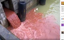 Video nước xả thải màu đỏ không phải ở Formosa