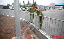 An ninh thắt chặt trước giờ Đoàn Thể thao Việt Nam về Nội Bài