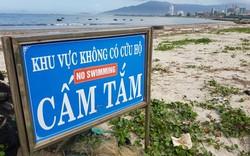 Đà Nẵng: Rác xuất hiện nhiều tại bãi biển cấm tắm