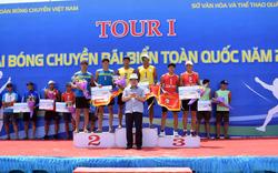 Sanna Sanest Khánh Hòa lên ngôi Tour 1 giải Bóng chuyền bãi biển toàn quốc