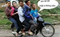 """Không nhịn được cười """"ảnh chế"""" Messi, Ronaldo, Ramos, Ozil đèo nhau trên xe máy"""