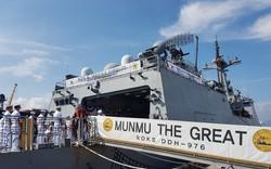 Hình ảnh tàu Hải quân Hàn Quốc tới Đà Nẵng