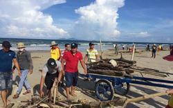 Nỗ lực dọn hàng tấn rác tấp vào bờ biển Đà Nẵng
