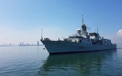 Hình ảnh tàu Hải quân Hoàng gia Canada tới Đà Nẵng