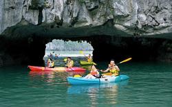 Từ 1/5: Dịch vụ chèo thuyền kayak hoạt động trở lại trên vịnh Hạ Long