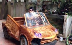 """Bỏ ra 20 triệu, chàng thợ mộc 9x khiến dân mạng xôn xao với """"siêu xe"""" Lamborghini gỗ"""