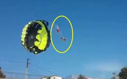 """Cặp đôi bay dù lượn vướng vào dây điện cao thế """"giật tung người"""""""