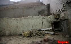 Xuất hiện bơm kim tiêm rơi vãi ở hầm kỹ thuật nhà ga đường sắt trên cao