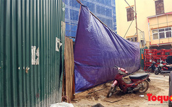 Hà Nội: Sập giàn giáo công trình đang thi công, 6 người thương vong
