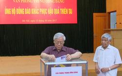 Lãnh đạo Đảng, Nhà nước quyên góp ủng hộ đồng bào khắc phục hậu quả thiên tai
