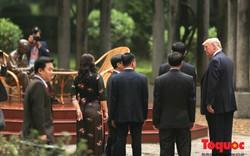 Trước khi rời Hà Nội, Tổng thống Mỹ thăm nơi Chủ tịch Hồ Chí Minh từng làm việc
