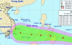 Bão Sanba giật cấp 12 hướng thẳng biển Đông