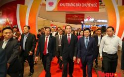 Chủ tịch nước Trần Đại Quang thăm Hội báo toàn quốc 2018