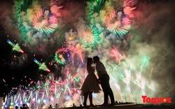 Ngỡ ngàng bộ ảnh cưới tuyệt đẹp trong đêm pháo hoa Đà Nẵng